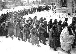 Germans taken prisoner at Stalingrad