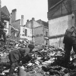 Soviet soldiers attack through Berlin rubble April 1945. Soviet State Archives